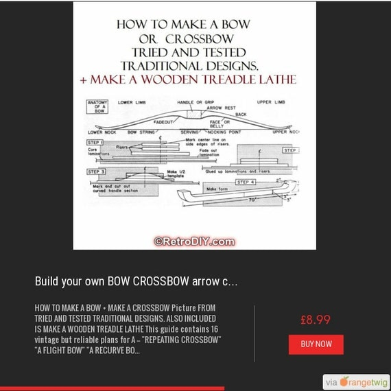 Build your own BOW CROSSBOW arrow compound archery cross designs plans #archery