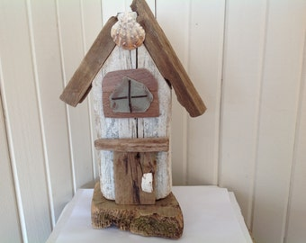 Driftwood decorative house Driftwood art Reclaimed wood art Decorative Birdhouses Rustic home decor