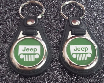JEEP KEYCHAIN 2 pack green