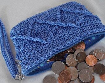 Coin Purse w/ Wrist Strap, change purse, coin purse wallet, womens change purse, zipper pouch, woman coin pouch, small zip purse, MIL gift
