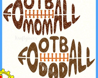 Football SVG football mom svg football dad svg Parents Football Family SVG cut file for Cricut Silhouette Scan N Cut Commercial