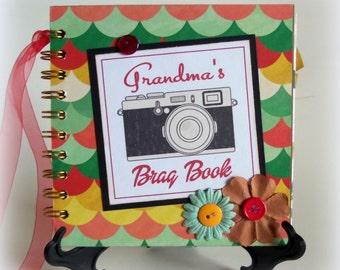 GRANDMA'S Brag Book photo album scrapbook keepsake new baby girl book