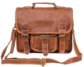 Mini Leather Satchel - Messenger Bag - Handbag/Clutch Bag - By MAHI Leather