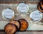 CHOOSE 3--Handpoured Soy Wax Candles--CHOOSE 3 --8 oz jar--Eco Friendly--Natural--Phthalate free fragrance--Mason Jar Candle--Gift