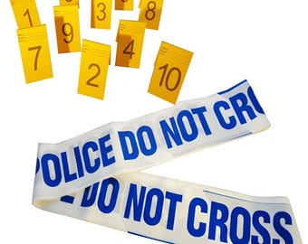 Police Do Not Cross,Novelty Barrier Tapes and Photo Evidence Frames(1-10)
