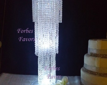 "12"" - 18"" Exquisite Chandelier Centerpiece With Riser Wedding & Special Occasion Centerpiece"