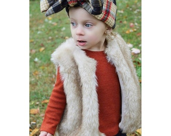 Luxurious, Soft Faux Fox Fur Baby Vest - Fully Lined