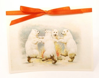 Polar Bear Card, Congratulations Card, Bear Greeting Card, Blank Note Card, Bear Birthday Card, Bear Note Card, Bear Thank You Card