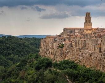 Italy Photography, Pitigliano, Gallery Wall Art, Tuscany Photography, Summer In Italy, Romantic Italy, Beautiful Italy, Landscape Photograph