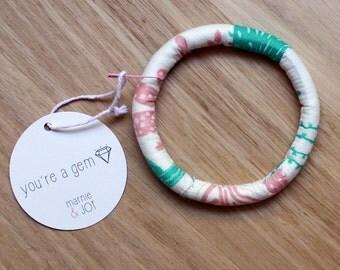 prickly cactus bold fabric bracelet