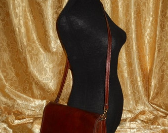 Genuine The Bridge leather shoulder bag   Made in 80's     Made in Italy