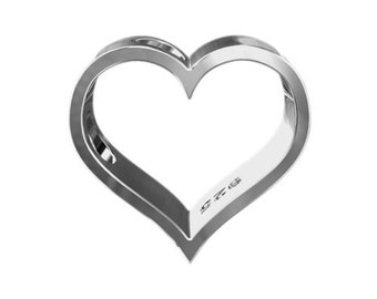 Charm Heart Sterling Silver 925 (need no jumpring)