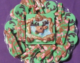 Camo Deer Hunting chocolates candy tray