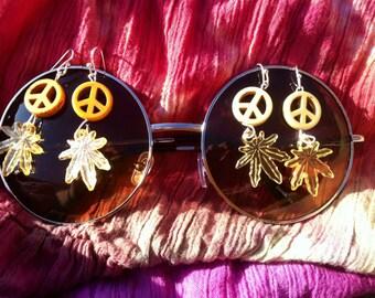 Peace pot earrings