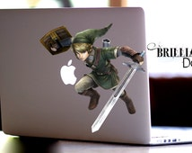 Zelda Decal, Link Decal, Link Macbook Decal, Link Macbook Decal, MacBook Pro, Legend of Zelda Skin, Link Skin, Zelda Sticker, Nintendo Skin