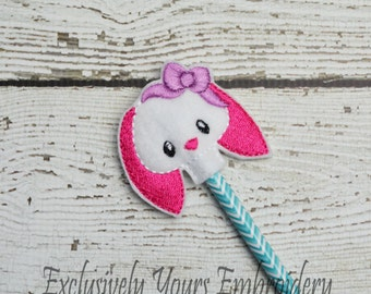 Betty Bunny Pencil Toppers - Party Favor - Valentine - Classroom Prizes - Easter - Small Gift - Back to School