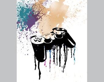 Playstation art / pop art / instant download / printable art / poster download