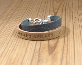 name, text bracelet, leather, woman, personalised jewelry, custom, leather bracelet,