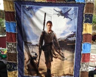 Star Wars Rey quilt rag quilt