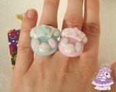 Beary Cute Hospital rings menhera fairy kei pastel