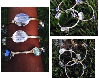 Crystal Wire Bangles!