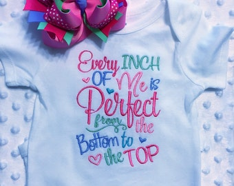 Baby girl onesie, new baby shirt, infant embroidery