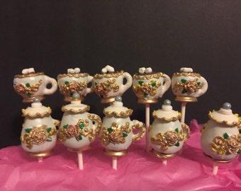 12 tea party cake pops