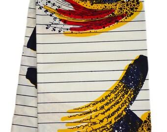 White Red Yellow African print Fabric / African fabric by the yard/ Wax print fabric/ African clothing/ Ankara fabric / ethnic fabric