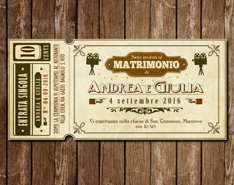 movie ticket wedding invitation, Wedding invitations