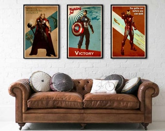 Set of three posters The Avengers-The Avengers poster set (Captain america-Iron Man-Thor)