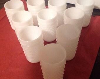 Hobnail Milkglass Goblets