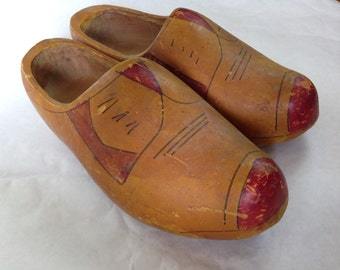 Very Old Vintage Dutch Wooden Shoes EXTRA LARGE