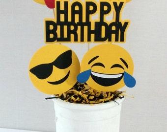 Emoji Birthday Centerpiece - emoji party supplies - party decor - table decorations