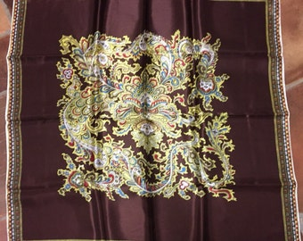 Beautiful Japanese scarf with face pattern