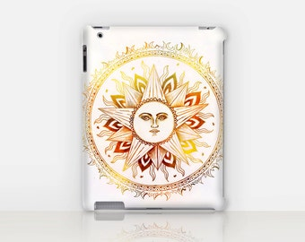Sun Mandala iPad Case For - iPad 2, iPad 3, iPad 4 and iPad Mini, Fine Art Hard Case