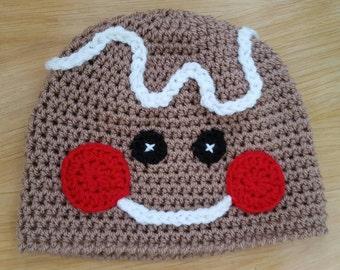 Gingerbread man beanie hat