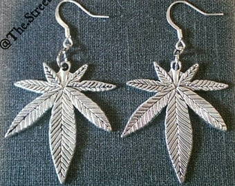 Silver Leaf Earrings!