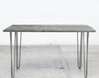Reclaimed Barnwood Desk w/ Hairpin Legs