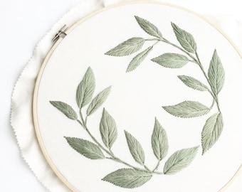 12 Inch Wreath Hoop - Dusty Green