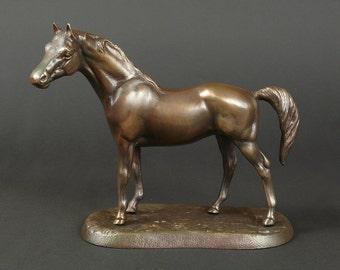 Metal Horse, Horse Scuplture, Horse Figurine, Horse Statue, Brass Horse, Metal Horse, Horse Gift