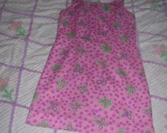 Lilly Pulitzer Dress Pink Sz 8 Vintage