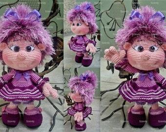 Purple Elf Doll  PATTERN crochet amigurumi