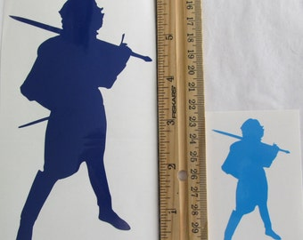 Vinyl Gamer RPG Car Window Decal Sticker Male Warrior Fighter with Sword Silhouette Role Playing Game Gaming D&D Dungeons Dragons