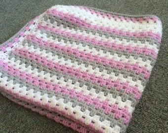 Girls granny stripe blanket