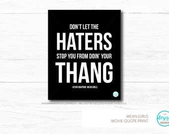 Mean Girls Movie Quotes Printables - Digital File Only, Six in Series