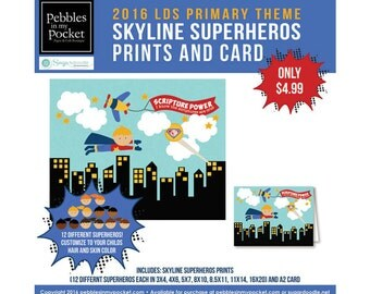 Primary 2016 Skyline Superhero Kids (12) Prints/Card - BB