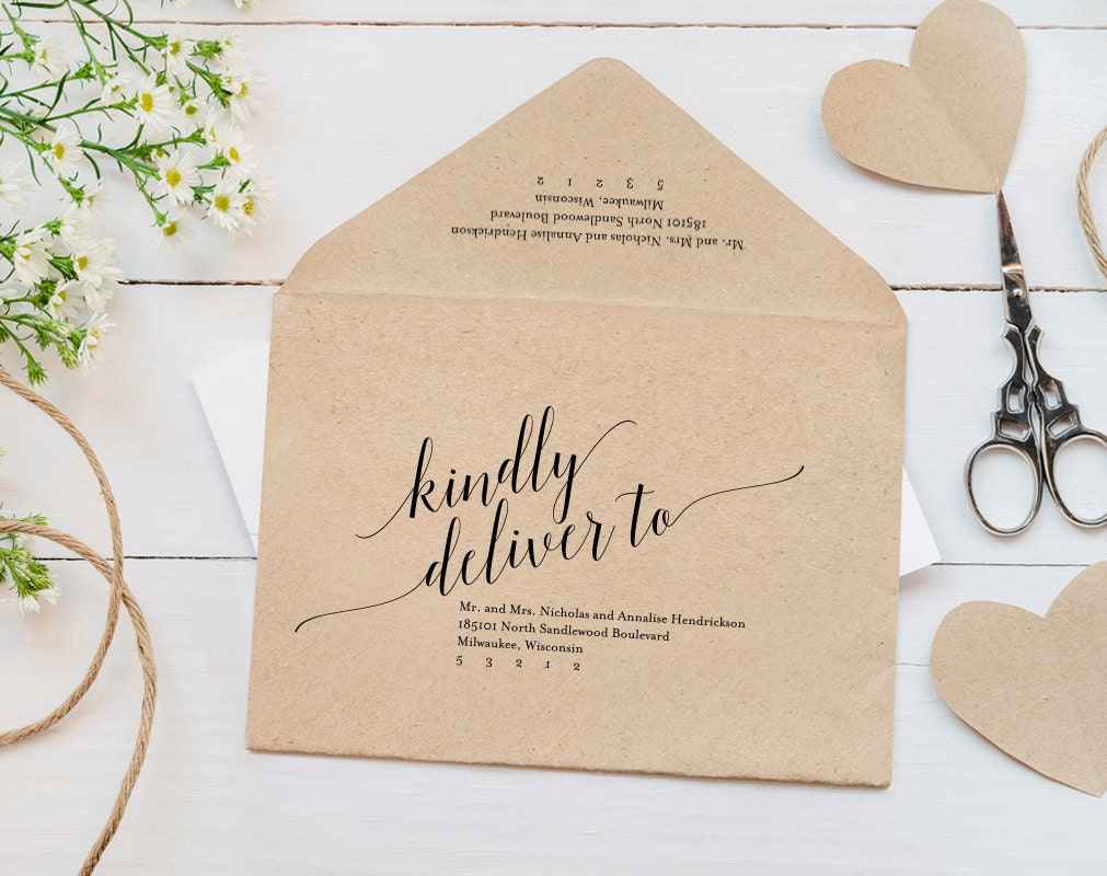 Calligraphy envelope – Sample A7 Envelope Template