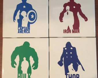 Avengers coasters (set of 4)