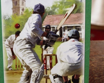 Step-Dad and Cricket Card