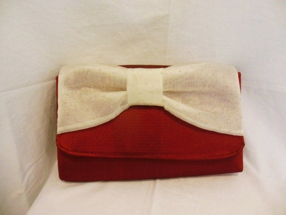 Red Large Bowtie Clutch